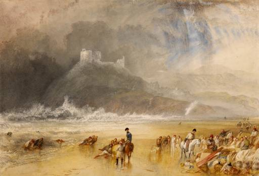 Criccieth Castle circa 1835 by Joseph Mallord William Turner 1775-1851